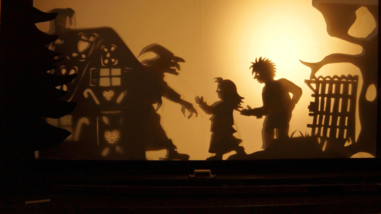 H nsel und gretel bei der hexe schattentheater for Schattentheater selber machen