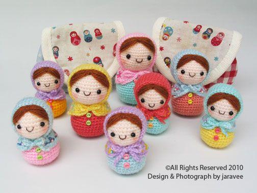 Crocheted Matryoshka Russian Dolls