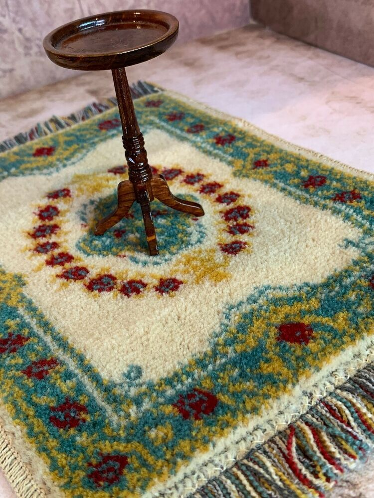 """Peter Rabbit  Round Rug in  1/"""" scale mini  rug for your Miniature Dollhouse"""