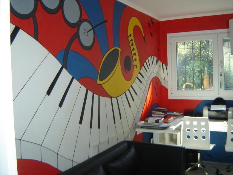 Checkout On Roposo Com School Wall Painting Ideas Duvar Muzik