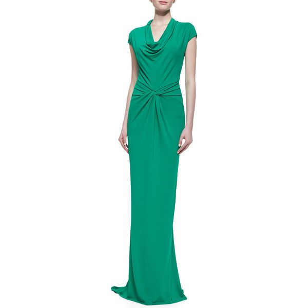 Michael Kors Draped Matte Jersey Gown ($803) ❤ liked on Polyvore ...