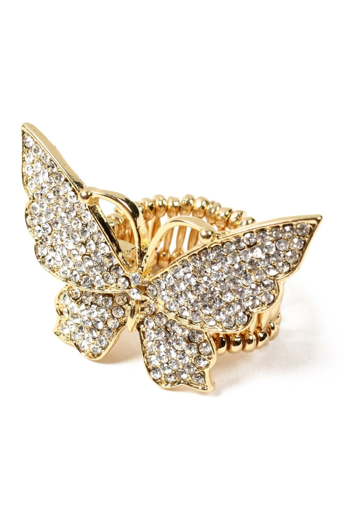 Crystal Butterfly Ring....I Love Butterflies and the new