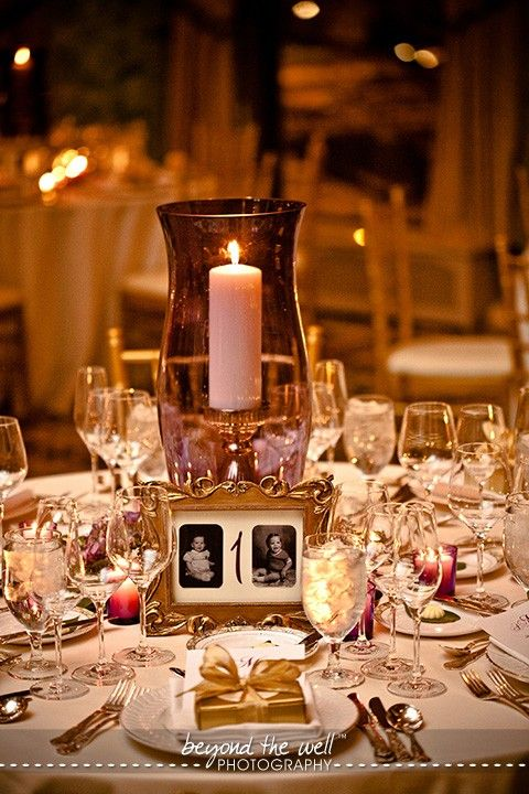 Pictures From Childhood Table Numbers Love The Spray Painted Ornate Frames Picture Centerpieceswedding Reception