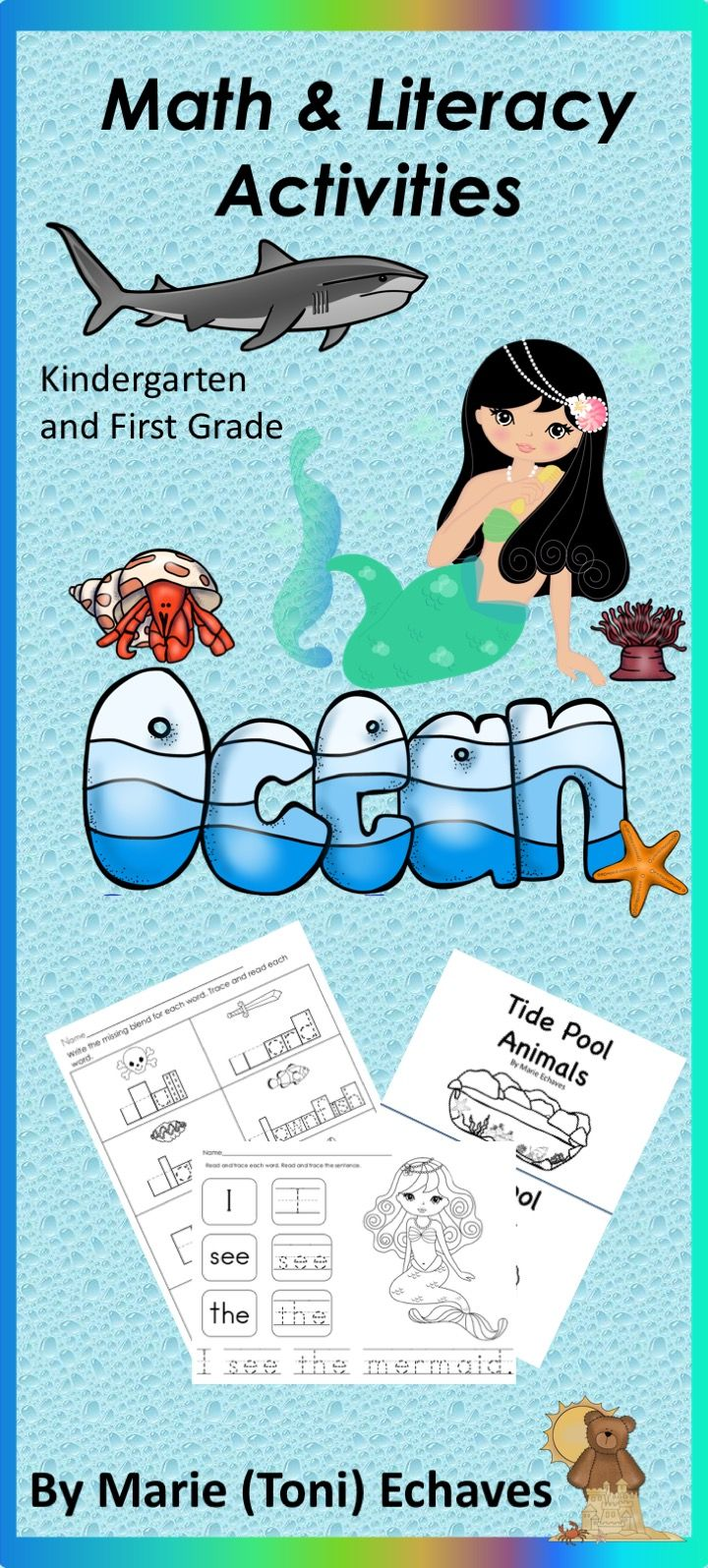 Math and Literacy Activities for Kindergarten & First Grade Ocean ...