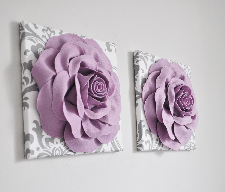 Lilac Home Decor Rose Home Decor Purple Rose Wall Hanging Bathroom Nursery Kitchen White Gray Damask O Purple Wall Decor Girls Room Wall Decor Rose Wall