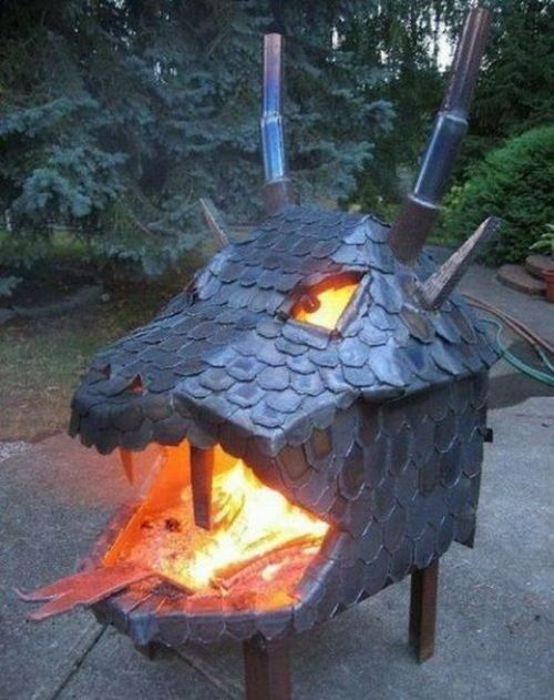 Dragon Head Fire Pit, Wow this is totally Awesome !! I would love to have  one of these. - Dragon Head Fire Pit Awesome Fire Pits Pinterest Dragon Fire