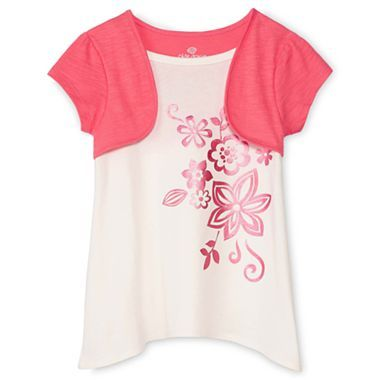 Okie Dokie® Layered Top - Girls 12m-6y - jcpenney
