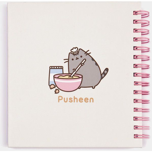 Baker Pusheen notebook (13 CAD) ❤ liked on Polyvore featuring home, home decor and stationery