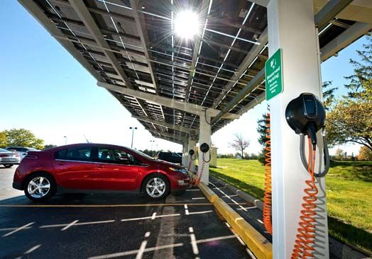 Automakers Warm Up To Solar Ev Charging Stations With Images