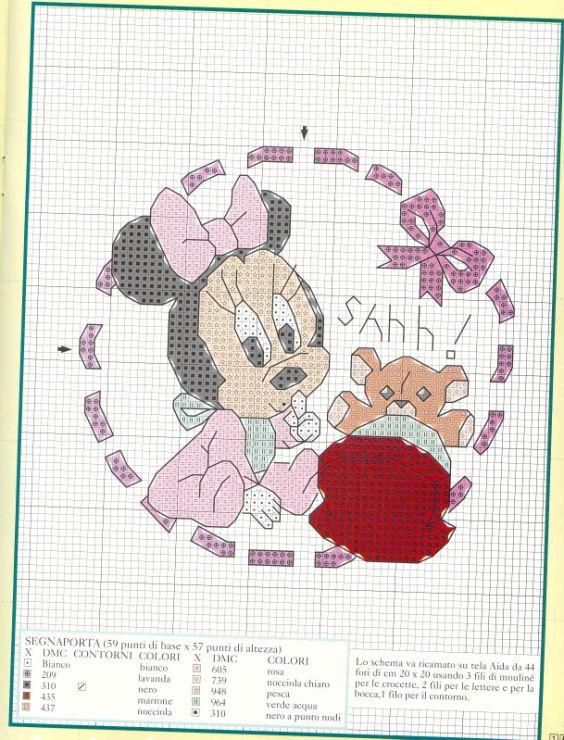 Gallery.ru / Фото #5 - Disney a ponto croce 2 - Chispitas | Miniie ...