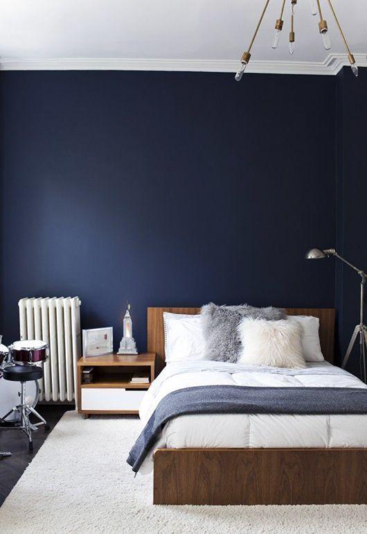 Navy & Dark Blue Schlafzimmer Design-Ideen & Bilder ...