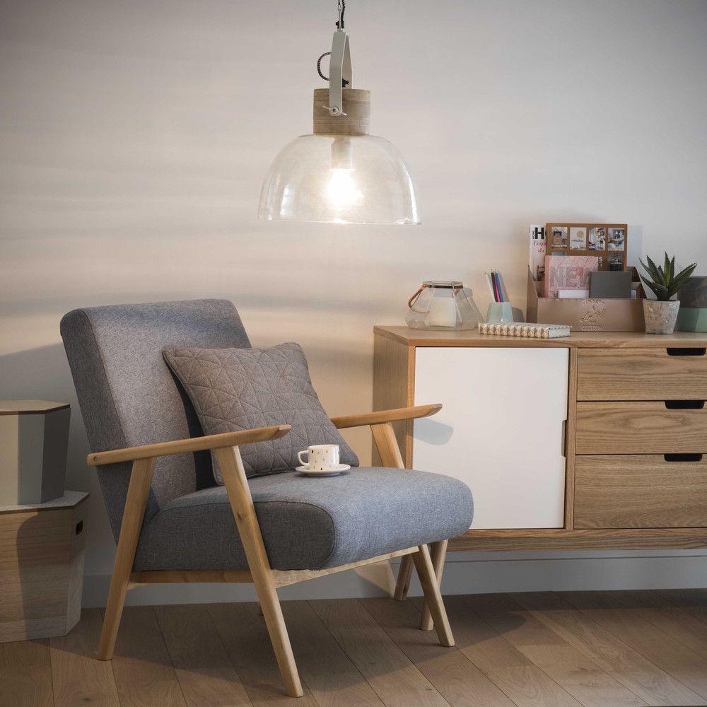 suspension en verre d 35 cm maisons du monde nouvelle. Black Bedroom Furniture Sets. Home Design Ideas