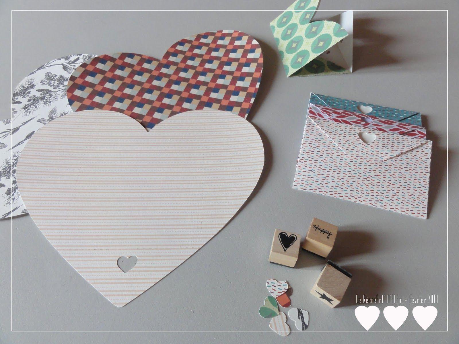 Favori Enveloppe coeur, avec gabarit à imprimer . Le RécréArt' d'Elfie  AF09