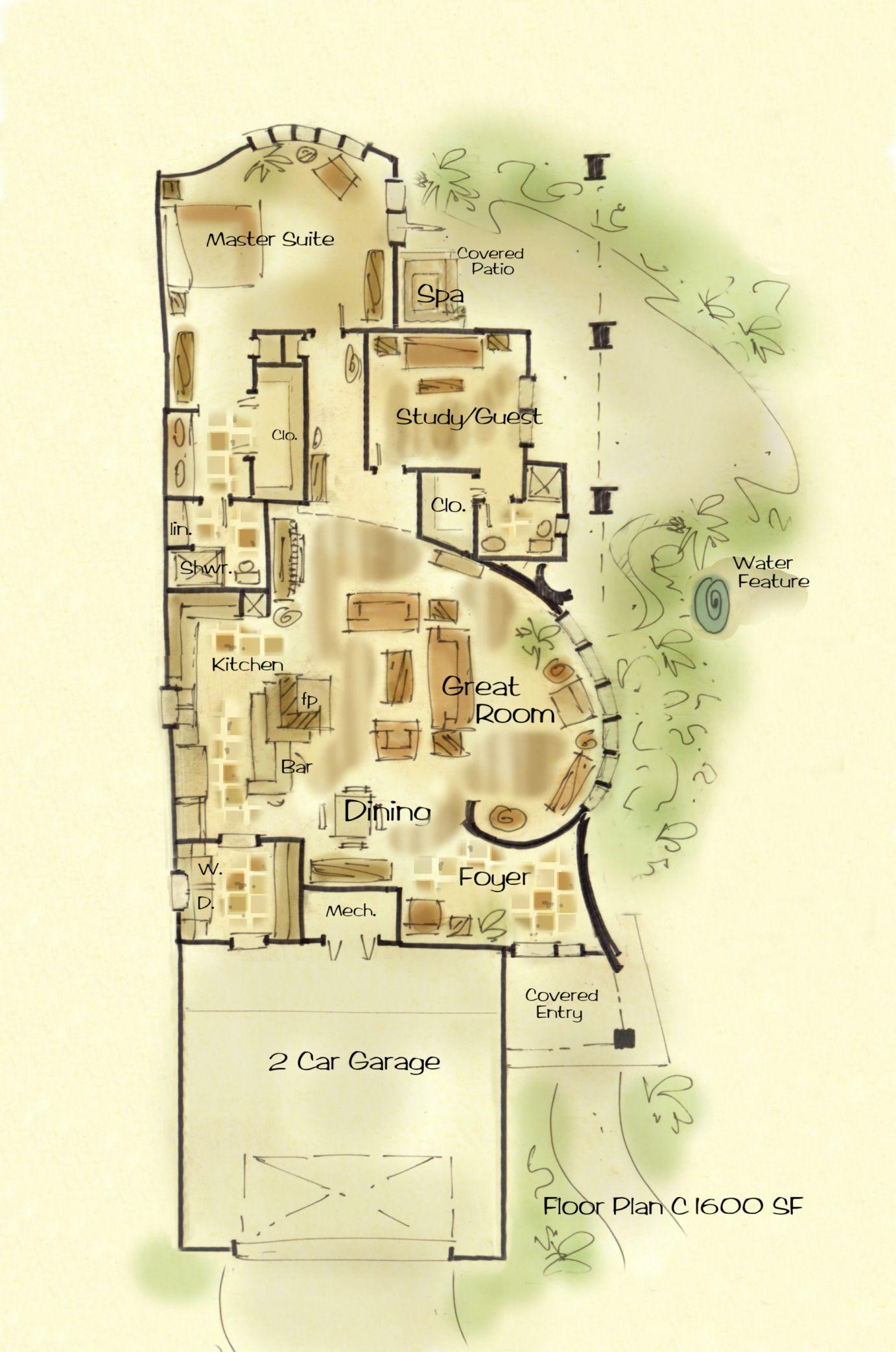 Spanish custom house plans