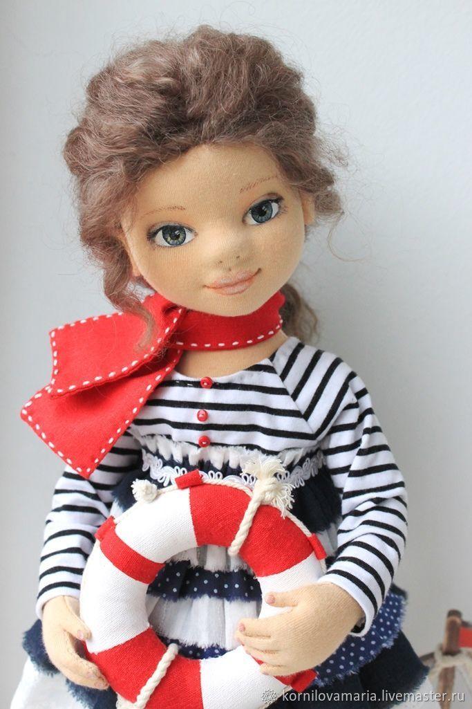 Купить Кукла коллекционная текстильная авторская Морская ...
