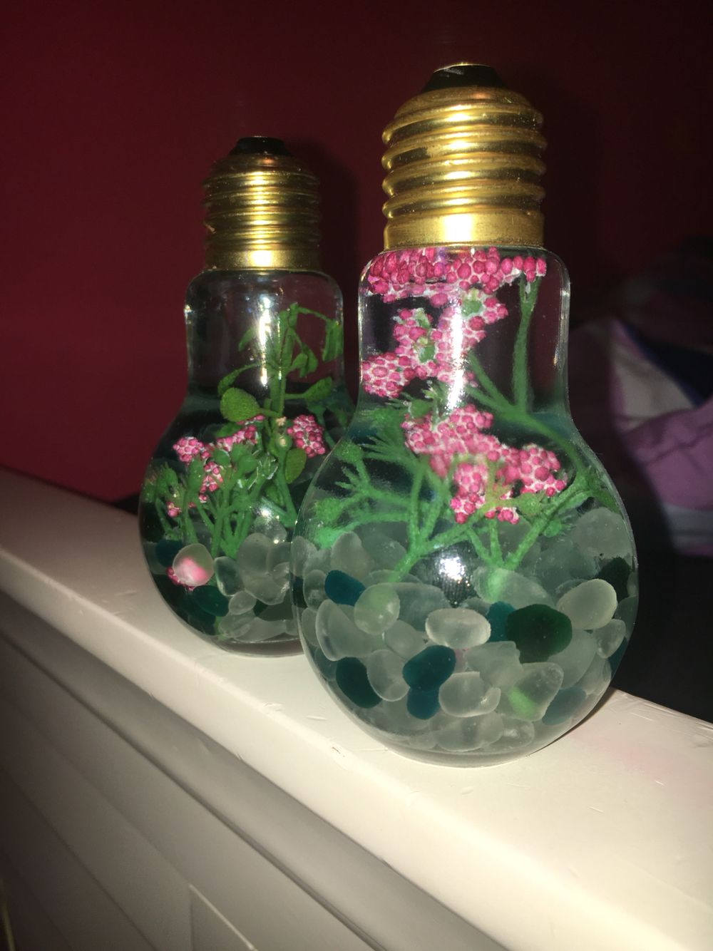 Light bulb terrariums. Simple decoration. Use glass ...