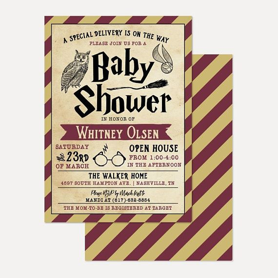 Harry Potter Colored Baby Shower Invitation Template