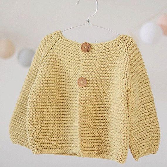 Baby Sweater KNITTING PATTERN Jumper Basic Baby Cardigan Toddler ...