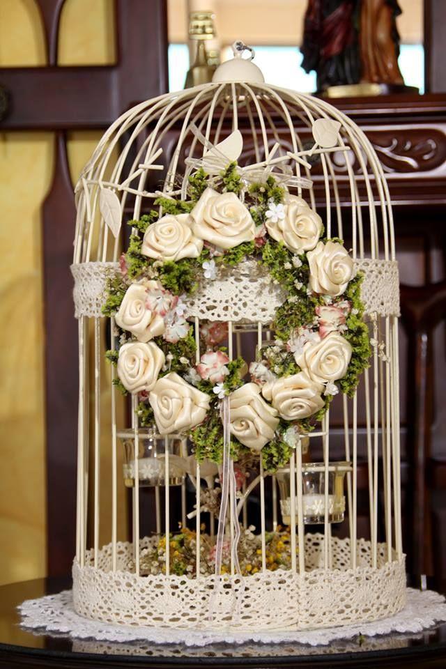 decoracion primera comunion con jaulas