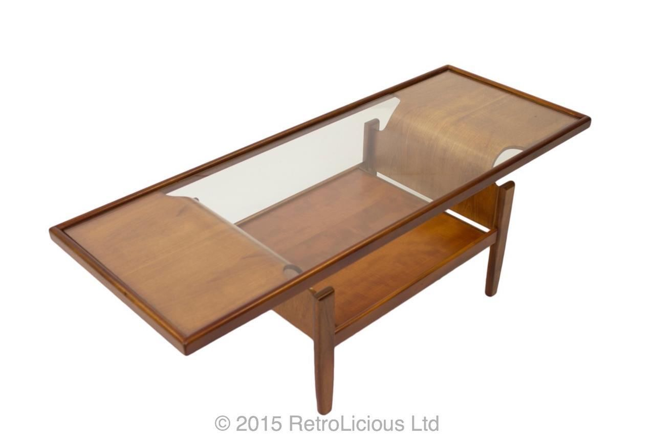 G plan teak bentwood coffee table console table lamp table retro teak bent wood coffee table geotapseo Gallery