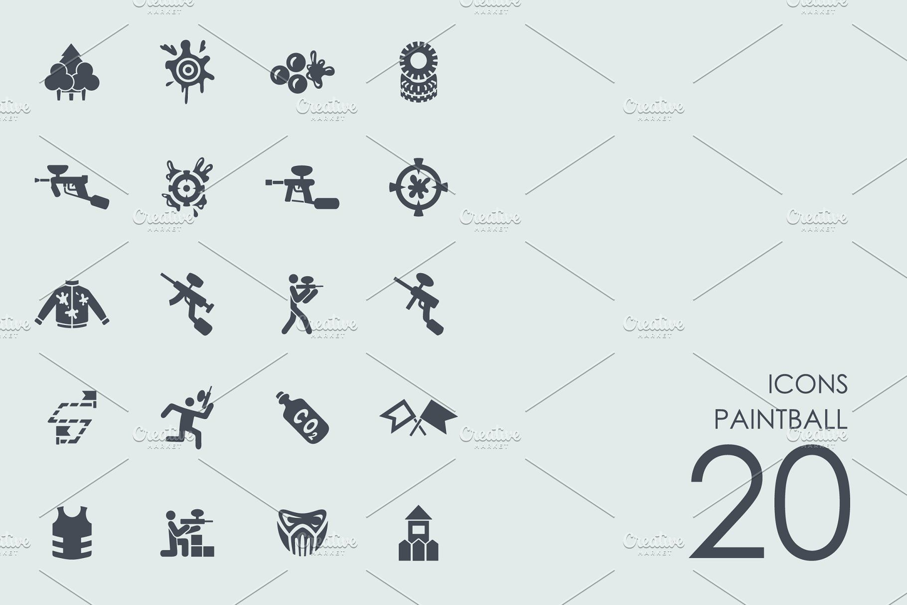Paintball icons PaintballiconsIcons Graphic