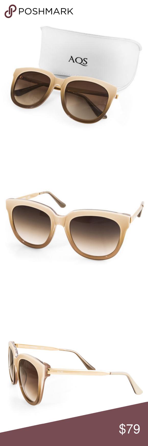 c5290b96dfc2 AQS by Aquaswiss Piper 55mm Sunglasses Beige Gold