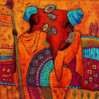 African Art Such Beautiful Vibrant Colors Abstractart