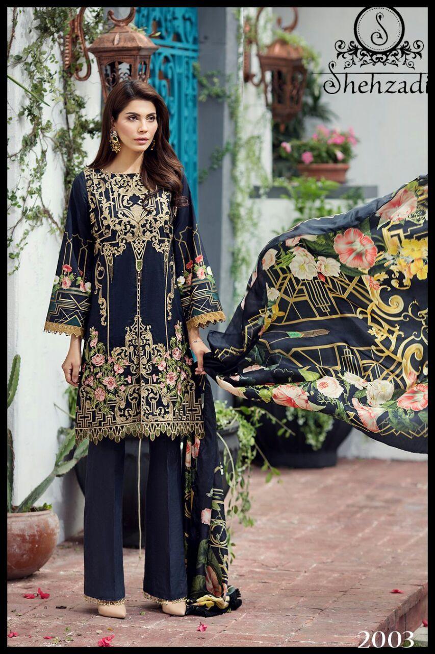 82e5a674ae Shehzadi Pakistani cotton Suit Wholesale( 4 Pc Set) | Cotton Suit ...