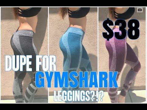 648bfbe20decbf DUPE FOR GYMSHARK LEGGINGS | Review & Try On | For the love of ...