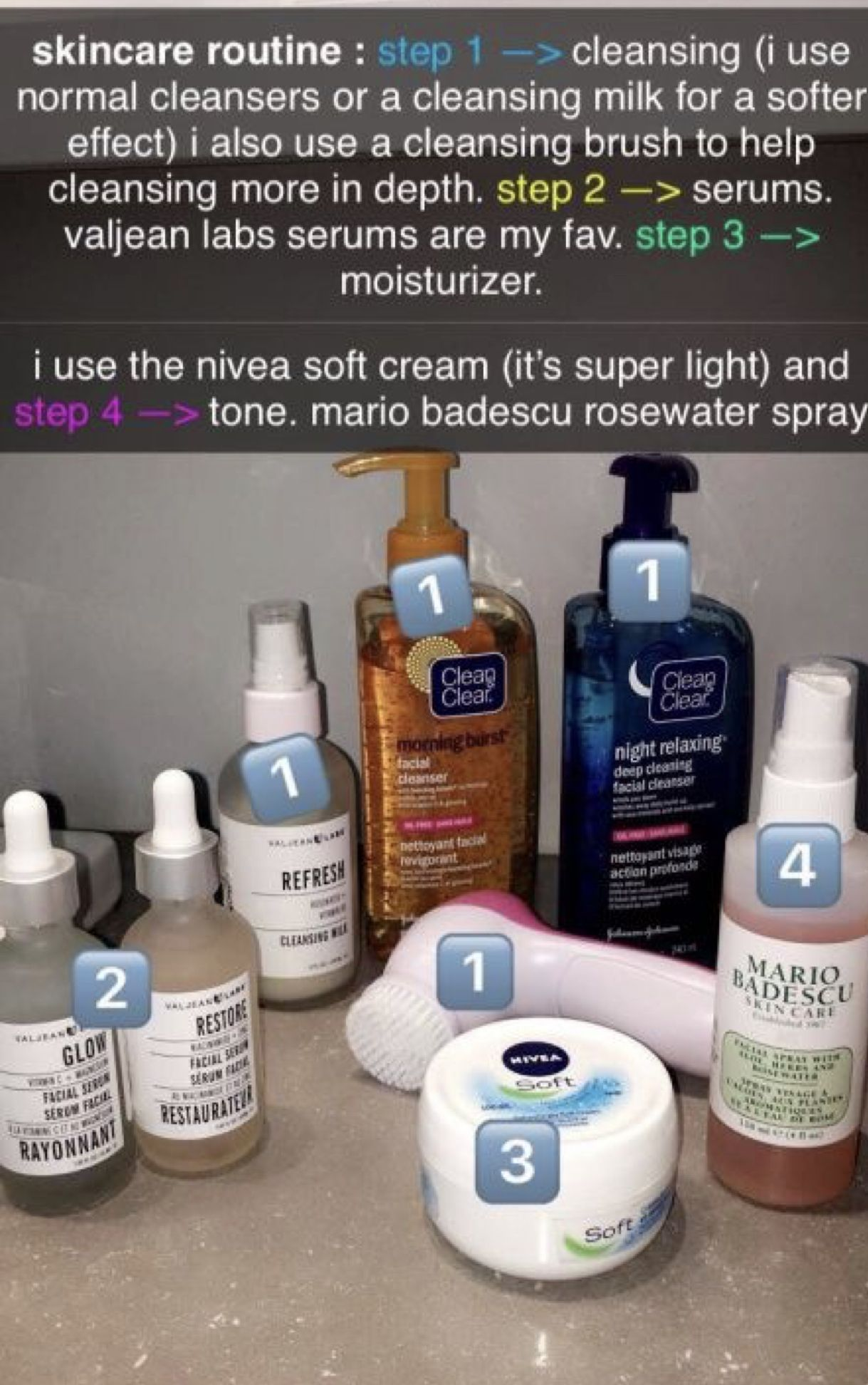 Pin by 🦋 on self & skin care Skin care routine steps