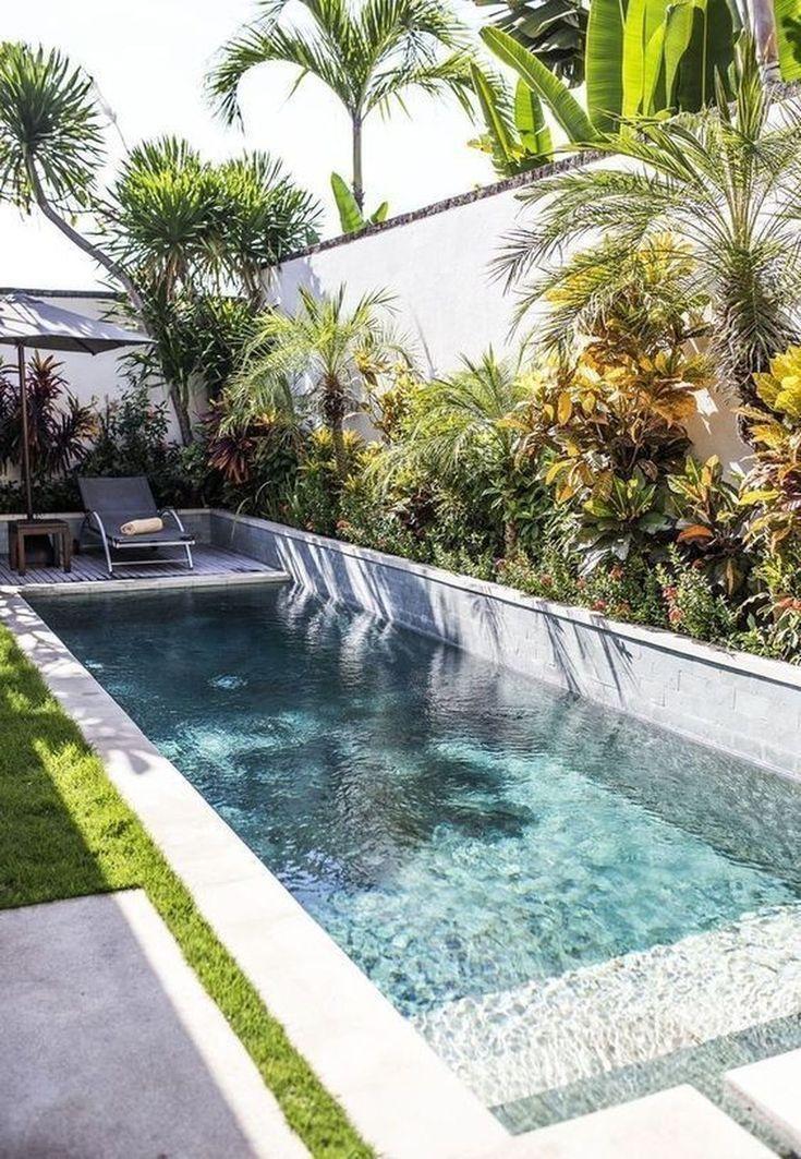 Pin By Gabi Souza On Small Backyards Small Backyard Pools Swimming Pool Landscaping Garden Pool Design