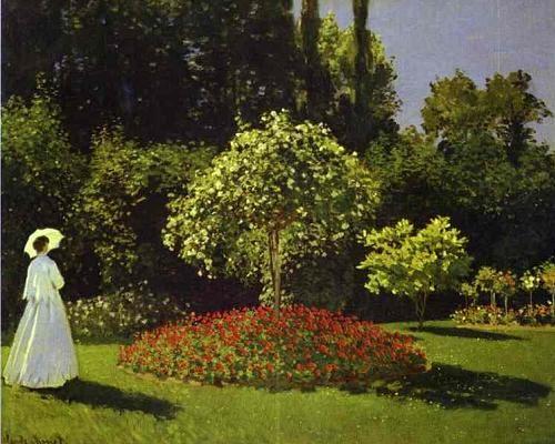 JSPuzzles - Jogue quebra-cabeças online - Claude Monet. Woman in the Garden…