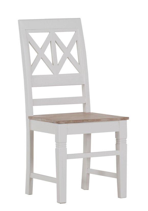 Dieser Stuhl Aus Holz In Braun Und Weiß Ist Das Perfekt Möbel, Um Den  Landhausstil