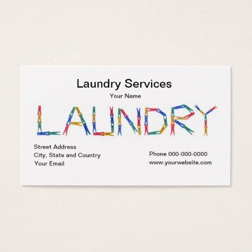 Laundry Services Business Card Zazzle Com Laundry Service