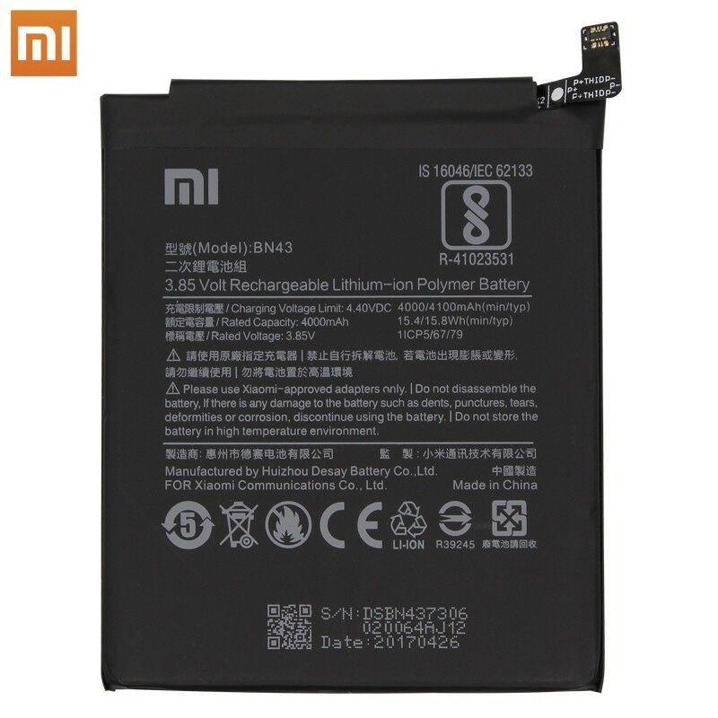 Original Xiaomi Bn43 Battery For Xiaomi Redmi Note 4x 4 Global Edition New Oem In 2020 Er Modell