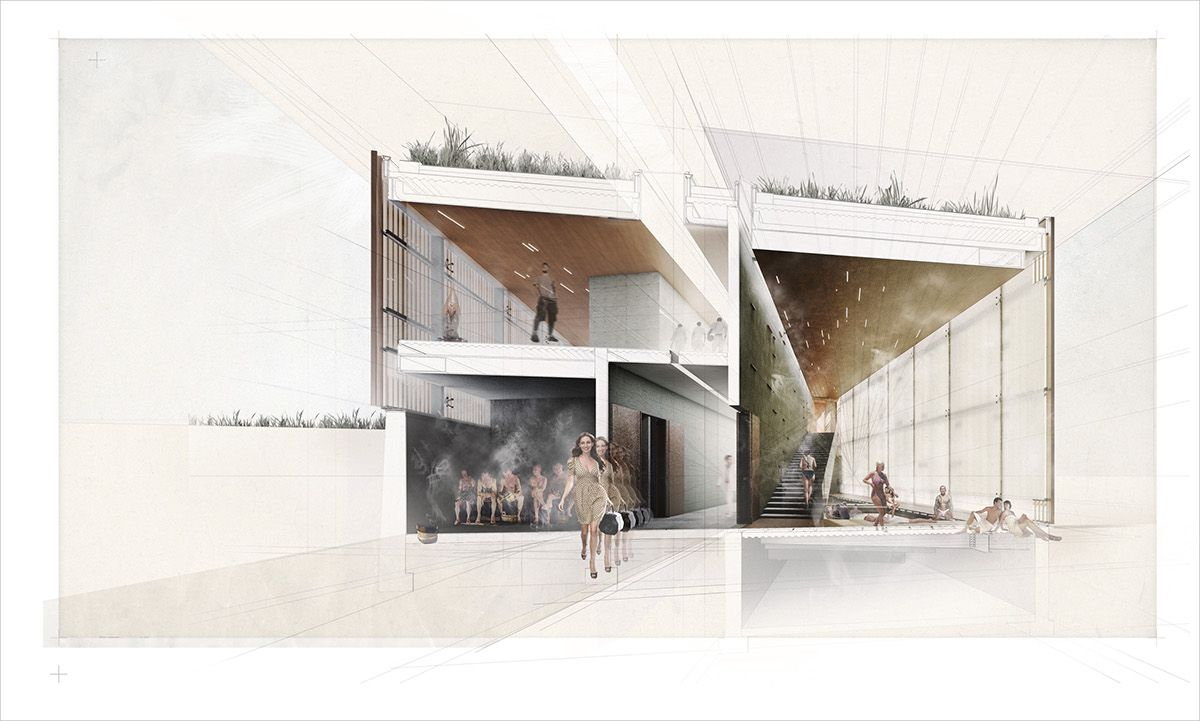 Wellness Center on Behance Architectural section