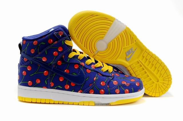 Womens Nike Dunk Yellow Cherry Shoes
