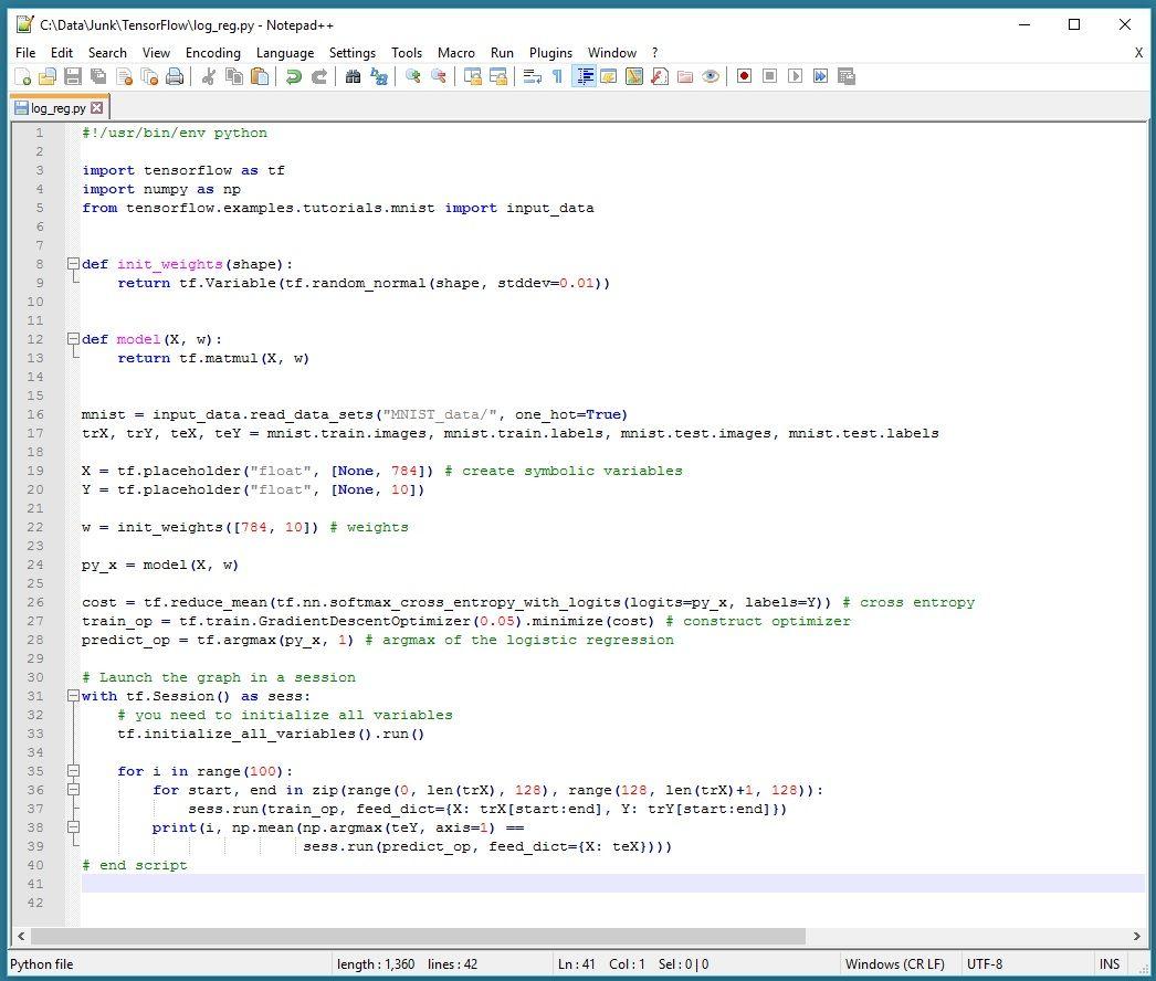 Running TensorFlow in Bash on Windows | Data Science | Data science