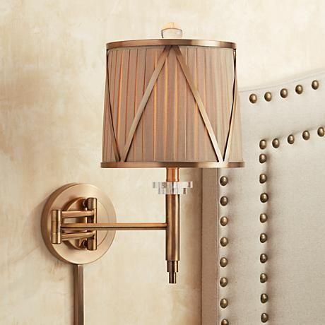 emerita gold plugin swing arm wall lamp
