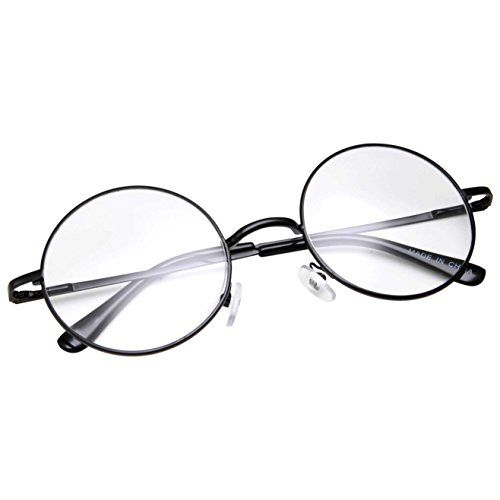 fcb83dcbaa grinderPUNCH NonPrescription Round Circle Frame Clear Lens Glasses Small  Black     You can get additional details at the image link.