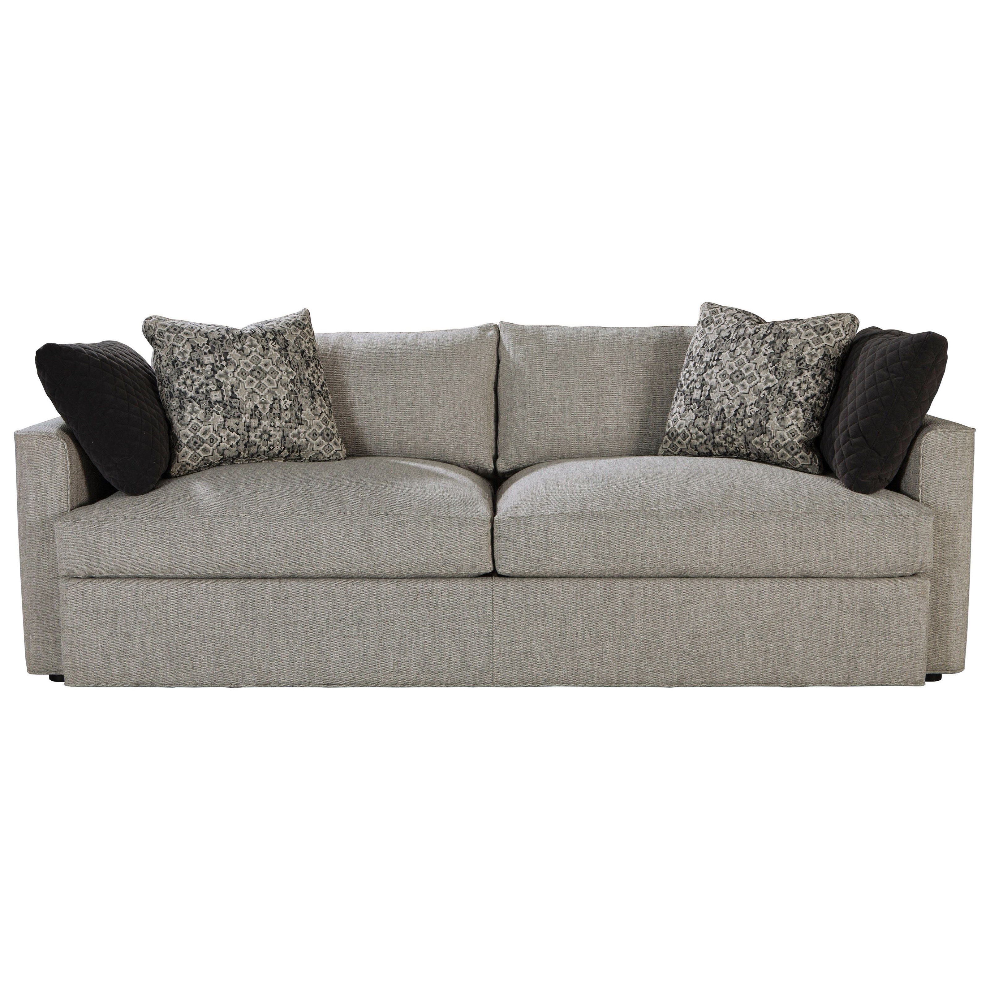 the ladera sofa is casually modern with a clean recessed arm and