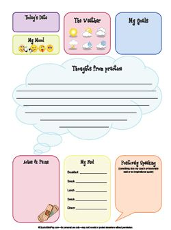 free printable weight loss journal template