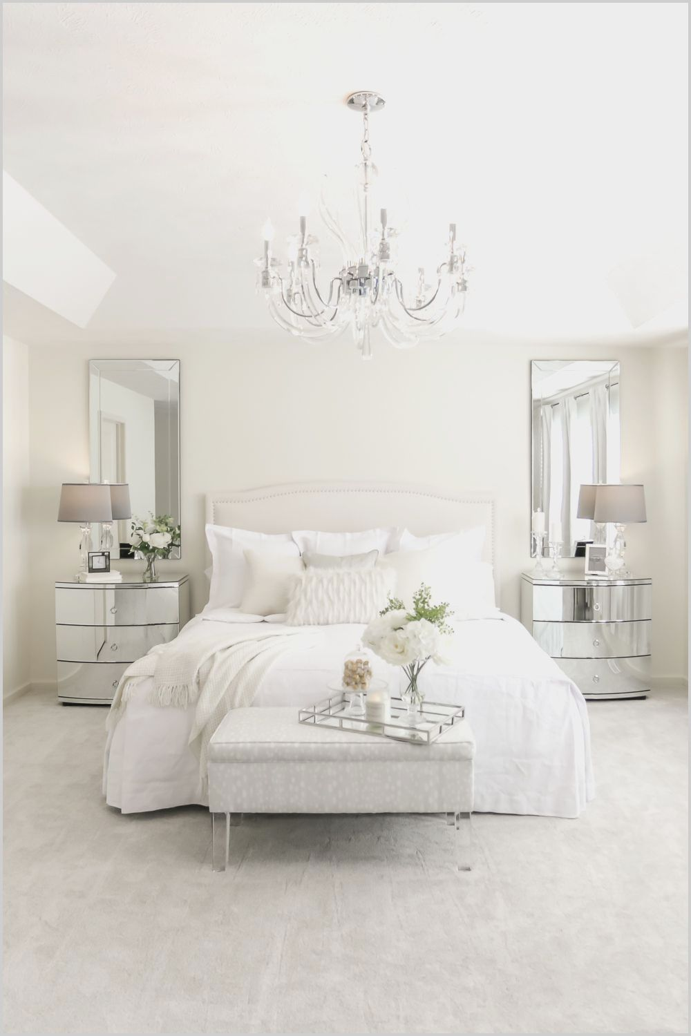 Ikea Small White Bedroom Interior In 2020 White Bedroom Set Small White Bedrooms All White Bedroom