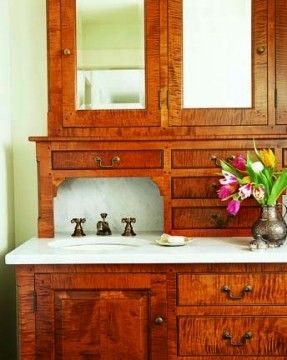 bathroom vanities massachusetts. Custom-designed Bathroom Vanity In A Massachusetts Farmhouse (Photo: Eric Roth) Vanities V