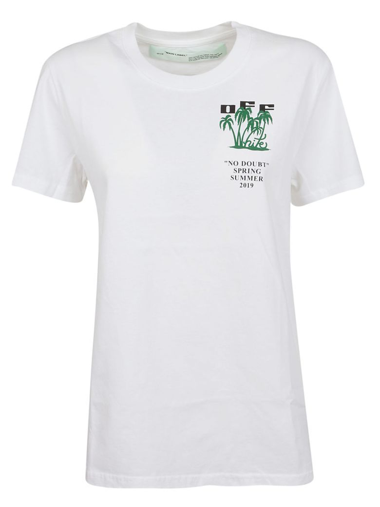 07656c55 Off-White Island Printed T-shirt - White Green | NEW IN - WOMEN in ...