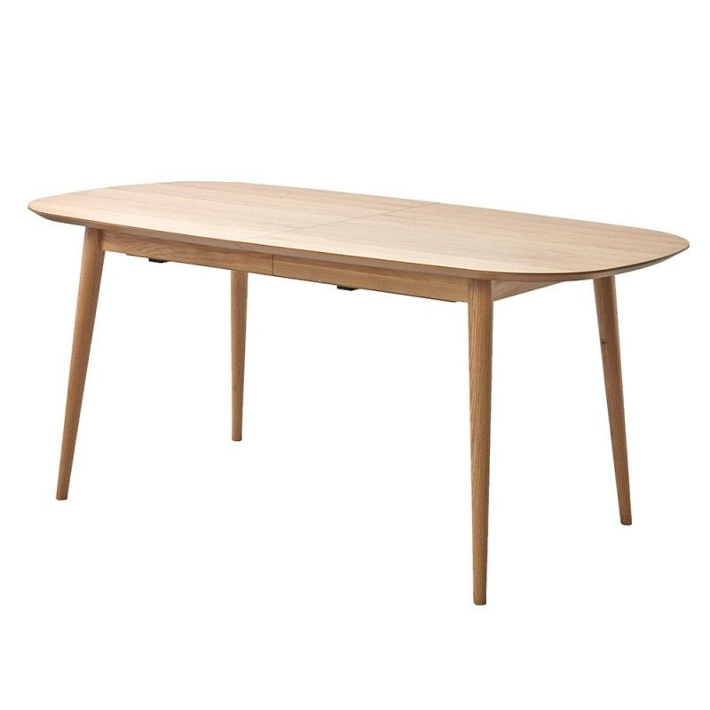 Vaasa Freidrich Scandinavian Style 6 8 Extension Dining Table A Handsome Nordic Blond With Sculptured