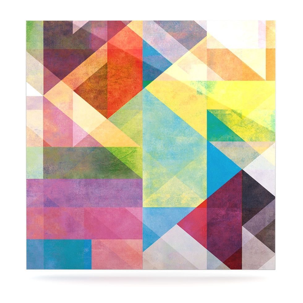 """Mareike Boehmer """"Color Blocking II"""" Rainbow Abstract Luxe Square Panel"""