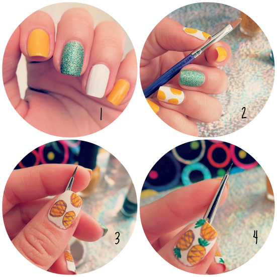 Summer pineapples #nails #nailart