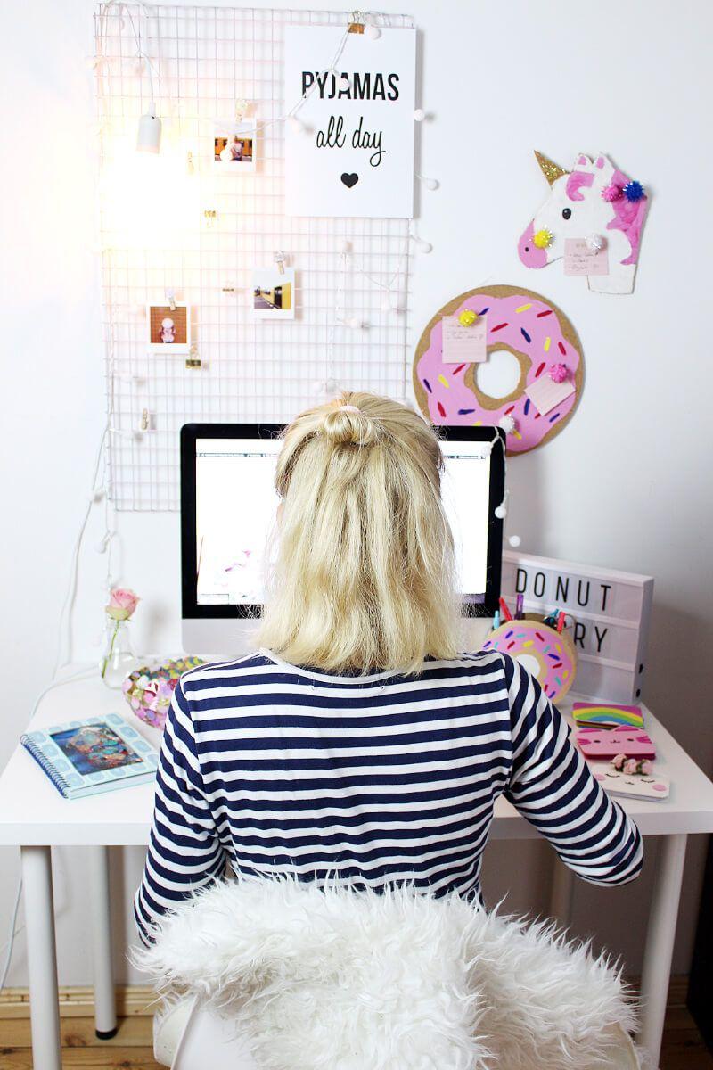 Schreibtisch deko selber machen - Ideen fur fotowand ...