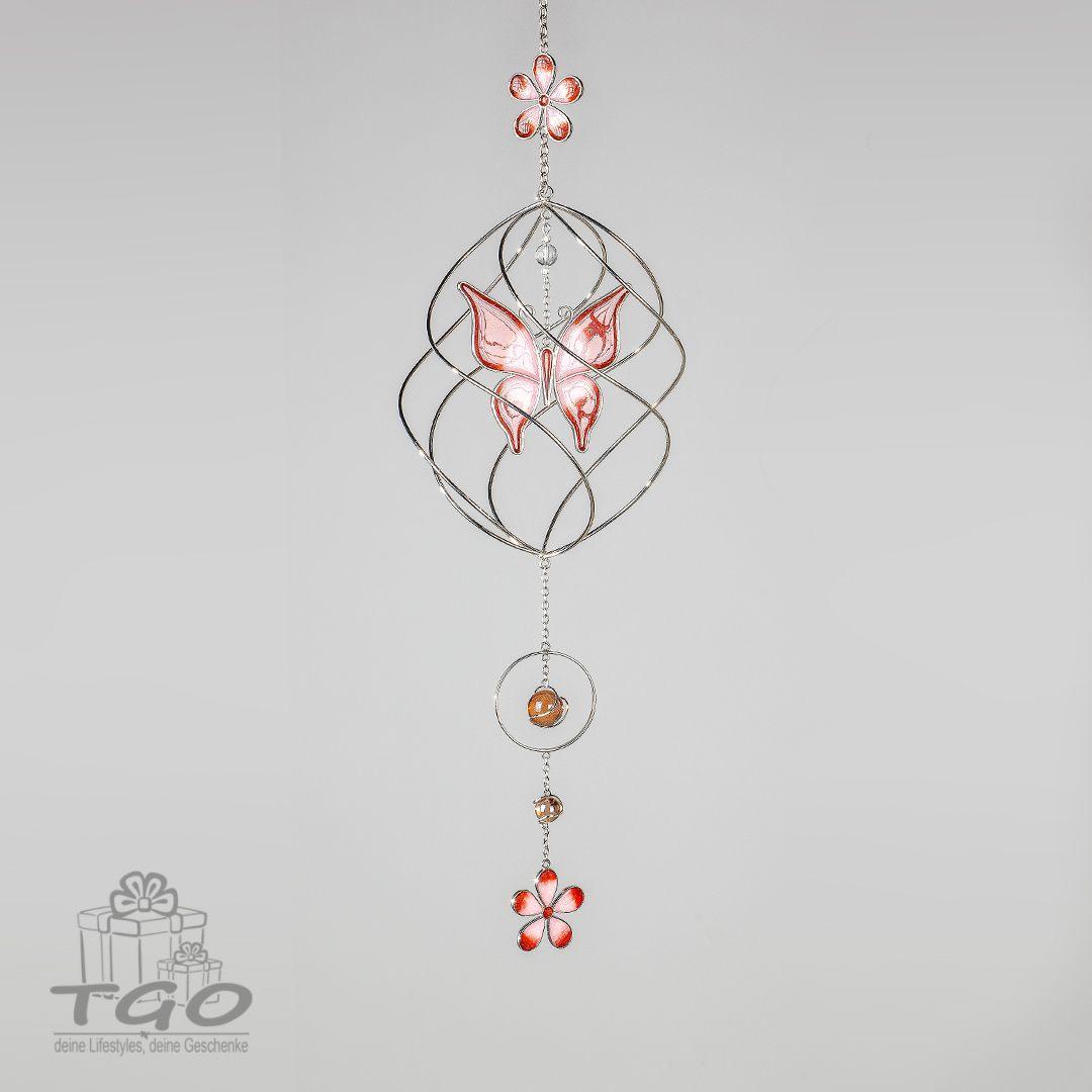 Formano Fensterdeko Dekohanger Spirale Schmetterling Rosa 70cm